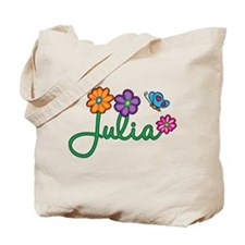 Julia Flowers Tote Bag