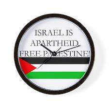 Israel is Apartheid Wall Clock