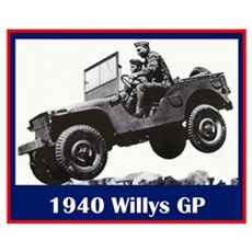 """1940 Willys GP"" Framed Print"