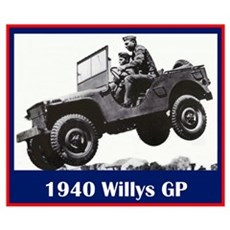"""""""1940 Willys GP"""" Poster"""