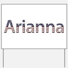 Arianna Stars and Stripes Yard Sign