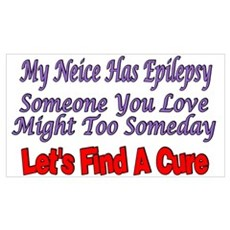 My Neice Has Epilepsy Find A Cure ri Poster