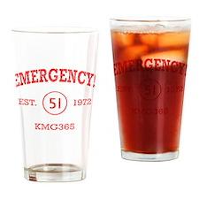 EMERGENCY! Squad 51 Vintage Drinking Glass
