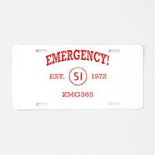 EMERGENCY! Squad 51 Vintage Aluminum License Plate