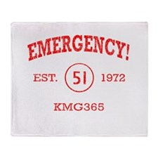 EMERGENCY! Squad 51 Vintage Throw Blanket