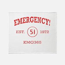 EMERGENCY! Squad 51 Vintage Throw Blanket