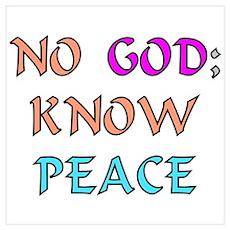 """""""No God"""" Poster"""