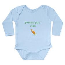 Bouncing Baby Vegan Long Sleeve Infant Bodysuit
