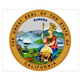 California state seal Posters