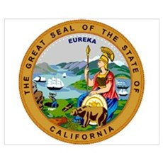 """California State Seal"" Canvas Art"