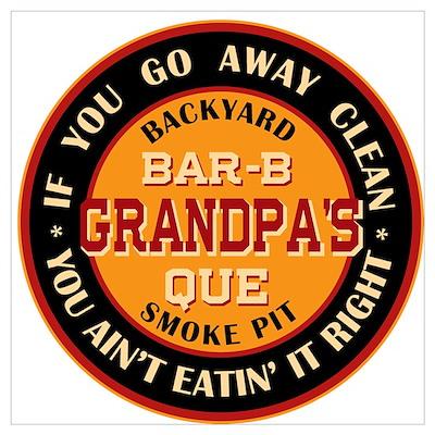 Grandpa's Backyard Bar-b-que Pit Poster