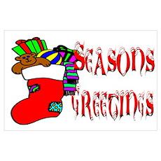 Stuffed Christmas Stocking Poster