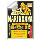 Anti marijuana Wall Decals