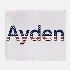Ayden Stars and Stripes Throw Blanket