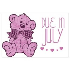 Pink Marble Teddy Due In July Poster