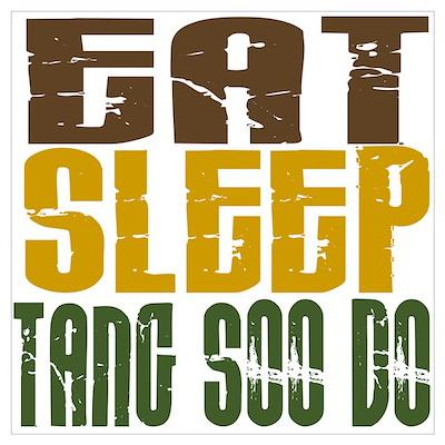 Eat Sleep Tang Soo Do Poster