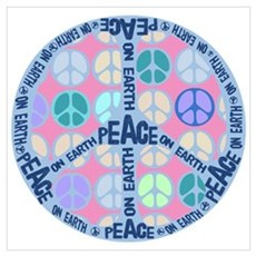 Multi Peace On Earth Sign Poster