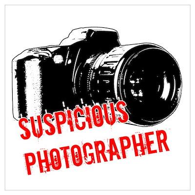 Suspicious Photographer Poster
