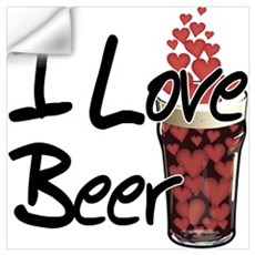 I Love Beer v2 Wall Decal