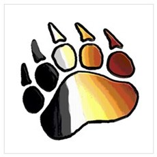 BEAR PRIDE PAW2/TONES Canvas Art