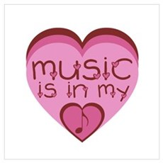 Music is in My Heart Canvas Art