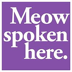 Cat Speak Poster