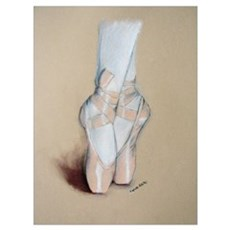 Ballet Pointe Shoes Poster
