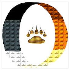 BEAR PRIDE CIRCLE/PAW/STUD Poster