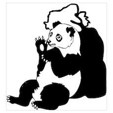 PANDA BEAR/BLACK-WHITE Poster