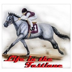 Race Horse, Life in the fastl Poster