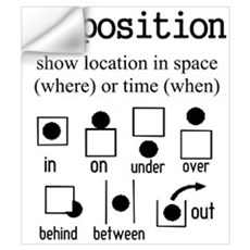 PREPOSITION Wall Decal