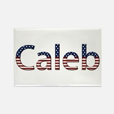 Caleb Stars and Stripes Rectangle Magnet