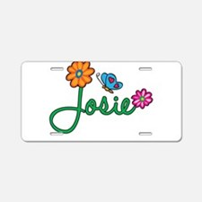 Josie Flowers Aluminum License Plate