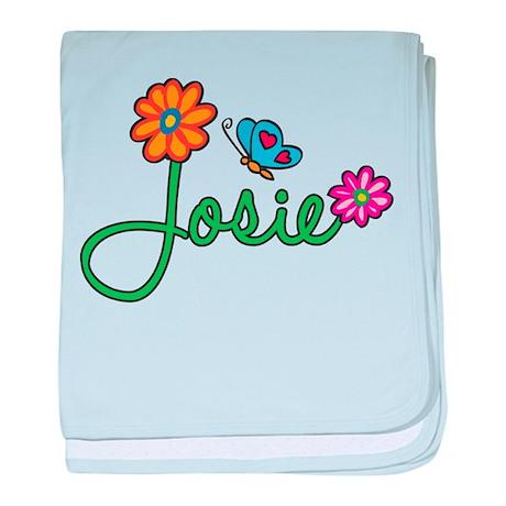 Josie Flowers baby blanket