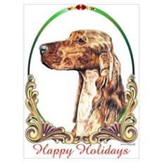Irish Setter Holiday Framed Print