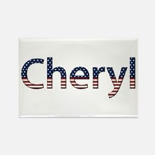 Cheryl Stars and Stripes Rectangle Magnet