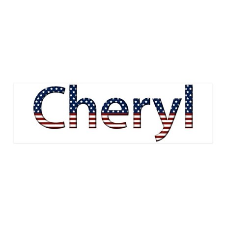 Cheryl Stars and Stripes 21x7 Wall Peel
