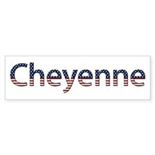 Cheyenne Stars and Stripes Bumper Bumper Sticker