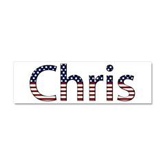 Chris Stars and Stripes 10x3 Car Magnet