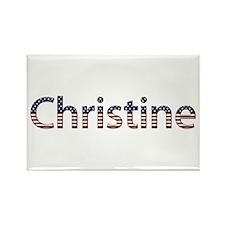 Christine Stars and Stripes Rectangle Magnet