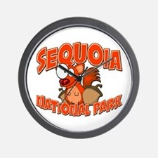 Sequoia Natl Park Squirrel Wall Clock