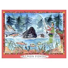 Salmon Fishing Poster