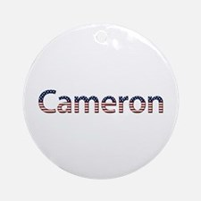 Cameron Stars and Stripes Round Ornament