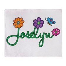 Joselyn Flowers Throw Blanket