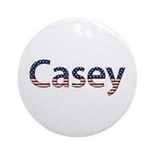 Casey Stars and Stripes Round Ornament