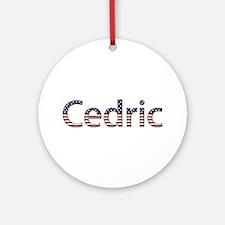 Cedric Stars and Stripes Round Ornament