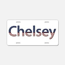 Chelsey Stars and Stripes Aluminum License Plate