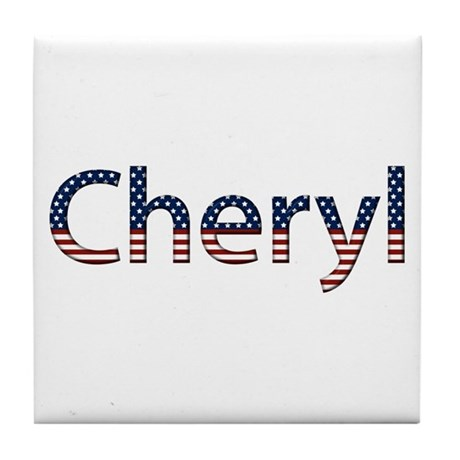 Cheryl Stars and Stripes Tile Coaster