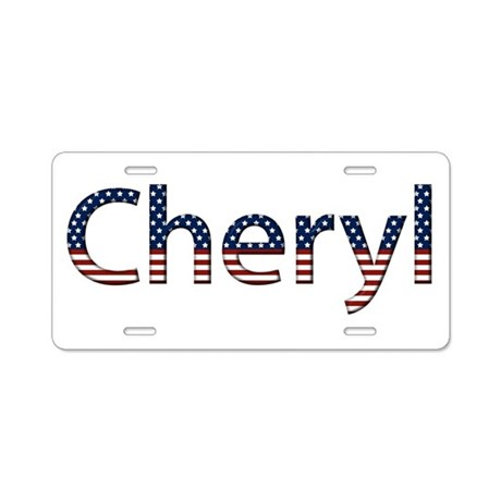 Cheryl Stars and Stripes Aluminum License Plate