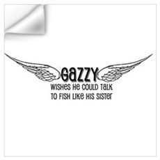 Gazzy Wants to Talk to Fish Wall Decal